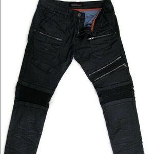 Copper Rivet 34x30 Black  Distressed Men's Jeans